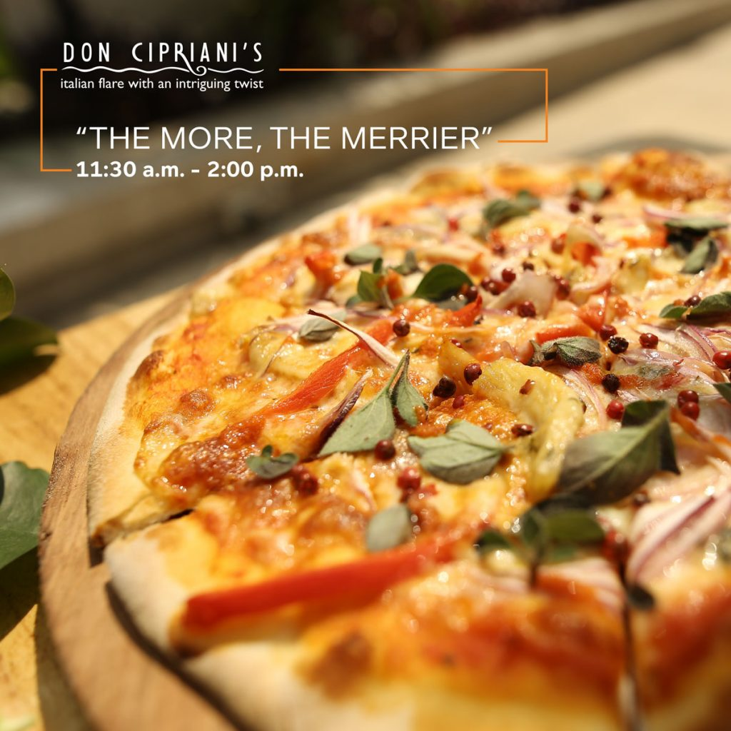 """The More The Merrier"" – Italian Pizza Combo For Lunch"