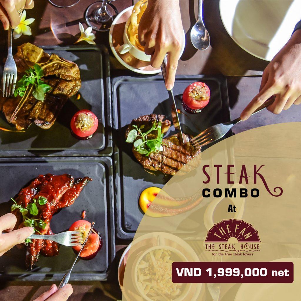 """Brand-New Steak Dinner Combo For 4 At """"The Fan"""""""