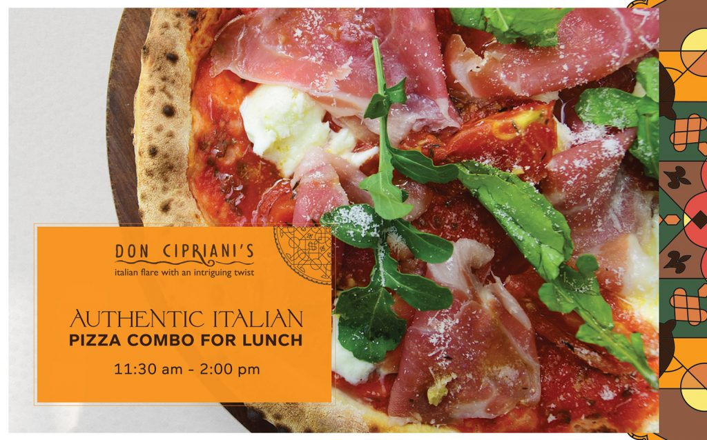 """The More The Merrier"" – New Italian Pizza Combo For Lunch At Don Cipriani's Restaurant"