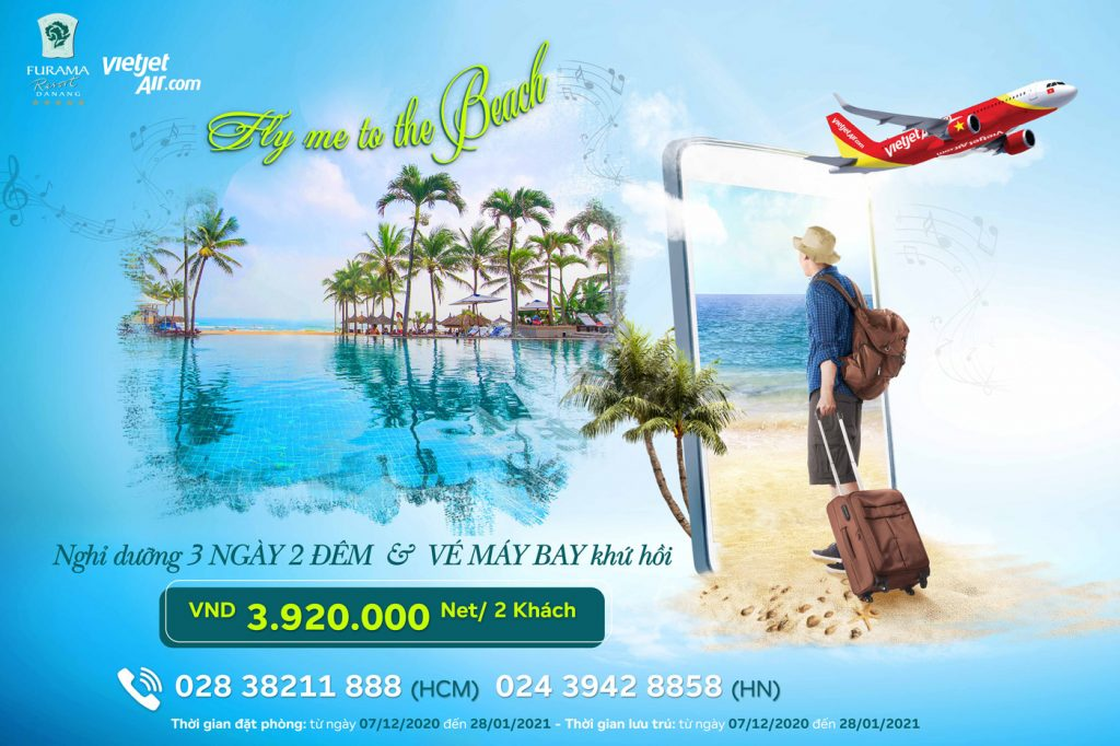 """""""Fly Me To The Beach"""" With Furama And Vietjet Air Package"""