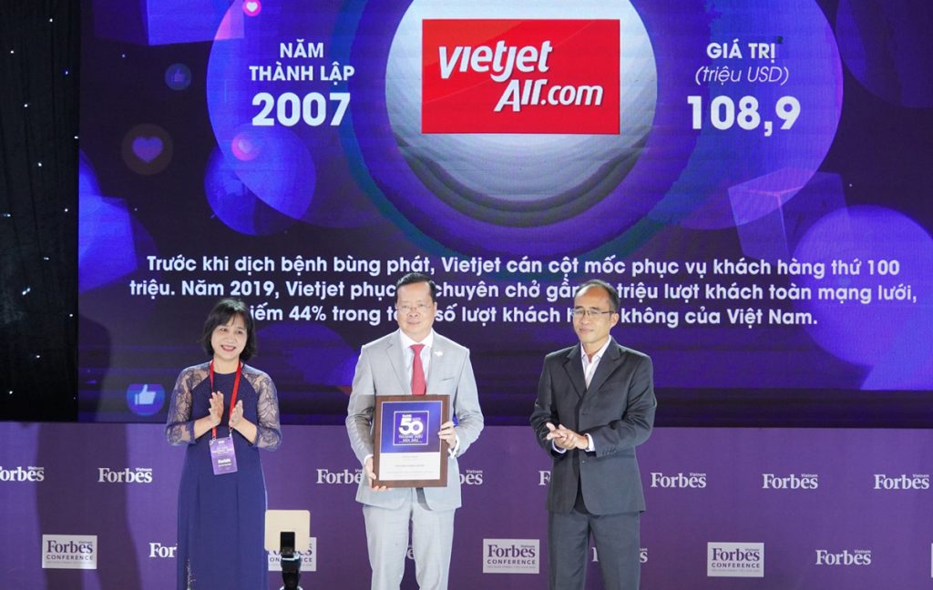 Vietjet Enters Top 50 Leading Vietnamese Brands 2020 Voted By Forbes